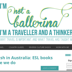 Not a Ballerina blog reviews ESL books