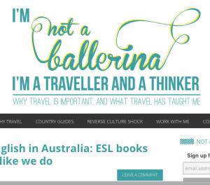 Not a Ballerina blog reviews ESL books