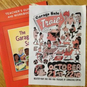 The Garage Sale book and the Garage Sale Trail flyer