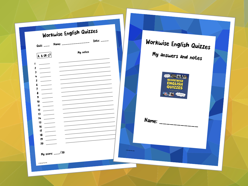 Free to download checklists for Workwise English Quizzes