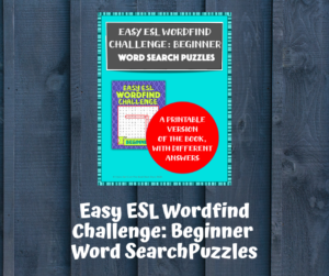 Cover of Easy ESL Wordfind Challenge: Beginner Word Search Puzzles