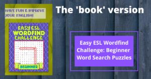 Easy ESL Wordfind Challenge: Beginner Word Search Puzzles
