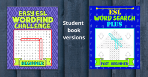 Easy ESL Wordfind Challenge and ESL Word Search Plus