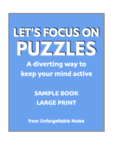 Cover of free sample Let's Focus on Puzzles